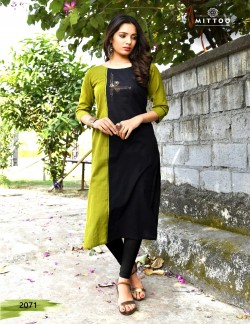 PRIYAL GREEN AND BLACK KURTI