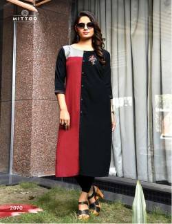 PRIYAL MAROON GREY AND BLACK KURTI