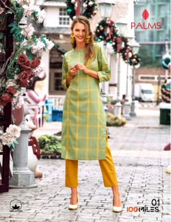 LIGHT GREEN CHECK KURTI