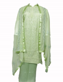 PALE GREEN COLOR LADIES SUIT