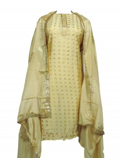 DARK YELLOW COLOR LADIES SUIT WITH MUKESH WORK