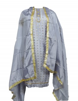 GREY COLOR LADIES SUIT WITH MUKESH WORK
