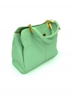 LIGHT GREEN SHOULDER HANDBAG
