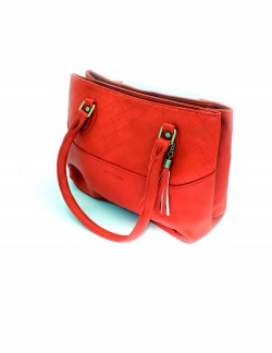 RED SHOULDER HANDBAG