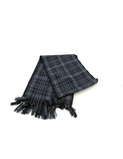 VP OSWAL BLACK AND GREY PATTERN MEN'S WOOLEN WINTER MUFFLER