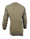GREY PATTERNED MEN WOOLEN SWEATER