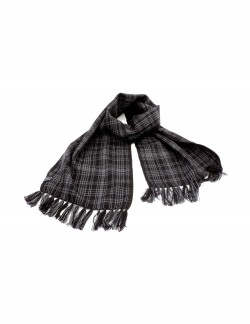 VP OSWAL BLACK PATTERN MEN'S WOOLEN WINTER MUFFLER