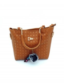 BROWN SHOULDER HANDBAG