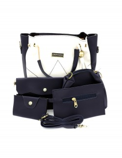 DARK BLUE SHOULDER HANDBAG