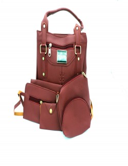 MAROON SHOULDER HANDBAG