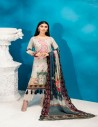 IMAN BLUE EMBROIDERED LAWN