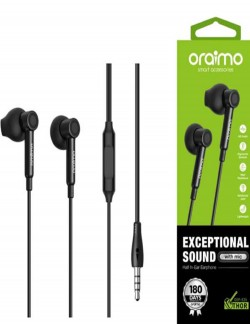 Oraimo Thor Exceptional Sound with Mic/ Half In-ear Earphone