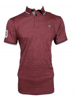 Zock light Maroon Plain Polo T shirt