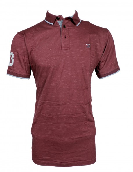 Zock light Maroon Plain T shirt
