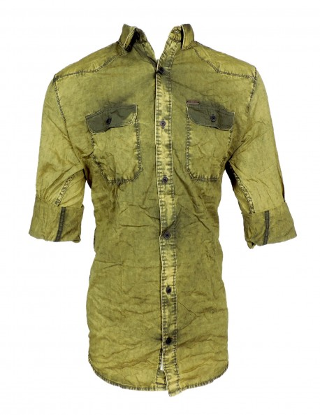 Fake Studio Light Green Casual Shirt