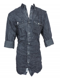 Urban Navy Dark Grey Casual Shirt