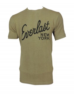 Zock Light Brown Round Neck T shirt
