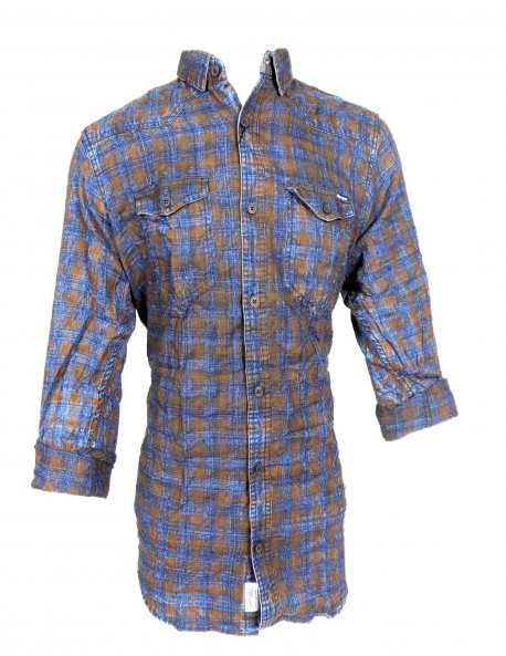 Fake Studio Blue Checked Shirt