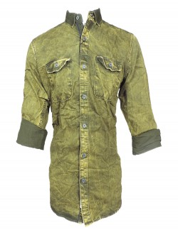 URBAN NAVY DARK GREEN CASUAL SHIRT