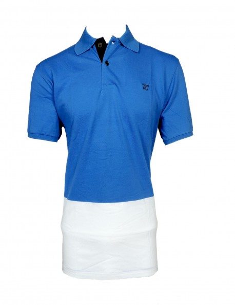 ZOCK BLUE AND WHITE POLO T SHIRT