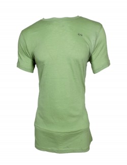 ZOCK LIGHT GREEN PLAIN ROUND NECK T SHIRT
