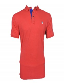 ZOCK RED PLAIN POLO T SHIRT