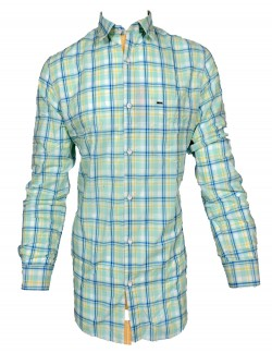 KEY PLUS LIGHT BLUE CHECK SHIRT