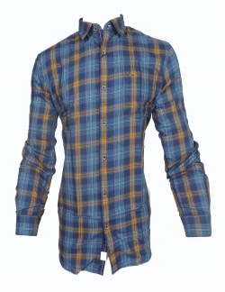 KEY PLUS DARK BLUE CHECK SHIRT