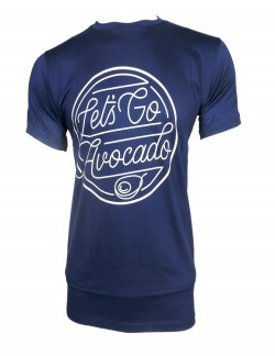 ZOCK BLUE PRINTED ROUND NECK T SHIRT
