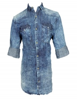 FAKE STUDIO DENIM COLOR CASUAL SHIRT