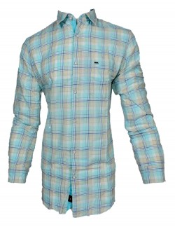 KEY PLUS BLUE AND PURPLE CHECK SHIRT