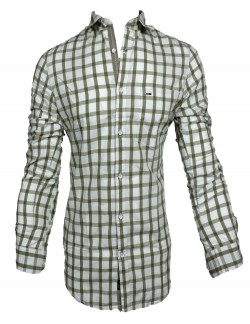 KEY PLUS WHITE CHECK SHIRT