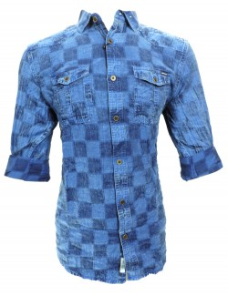 URBAN NAVY BLUE CHECK SHIRT