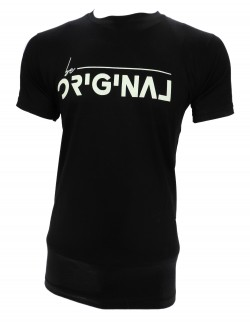 ZOCK BLACK ROUND NECK T SHIRT