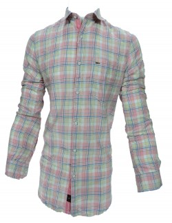 KEY PLUS PINK AND BLUE CHECK SHIRT