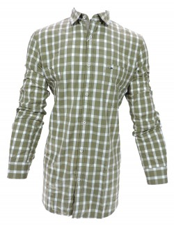 KEY PLUS BROWN CHECK SHIRT