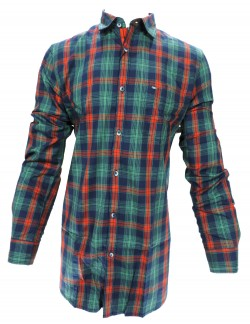 KEY PLUS DARK GREEN CHECK SHIRT
