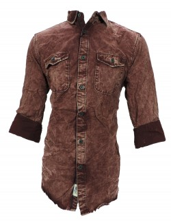 URBAN NAVY DARK MAROON CASUAL SHIRT