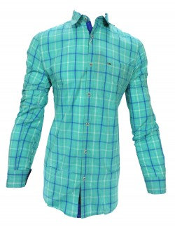 KEY PLUS GREEN AND PURPLE CHECK SHIRT