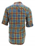 FAKE STUDIO RED BLUE AND YELLOW CHECK SHIRT