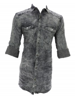 URBAN BLACK GREY CASUAL SHIRT