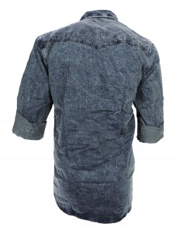 URBAN NAVY BLUE GREY CASUAL SHIRT