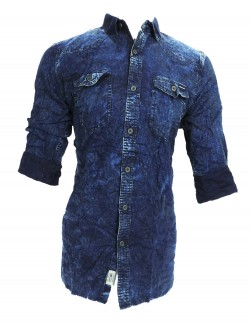 URBAN NAVY DARK JEANS COLOR CASUAL SHIRT