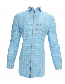 KEY PLUS WHITE AND BLUE CHECK SHIRT