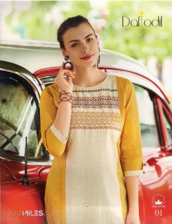 DAFFODILS DARK YELLOW LADIES KURTI