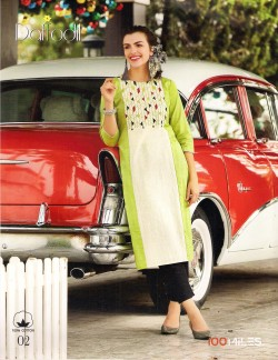 DAFFODIL LIGHT GREEN KURTI