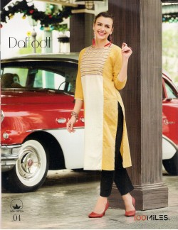 DAFFODILS YELLOW LADIES KURTI