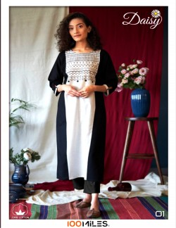 DAISY BLACK AND WHITE KURTI