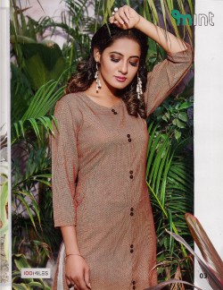 MINT RED ORANGE KURTI