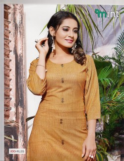 MINT ORANGE KURTI